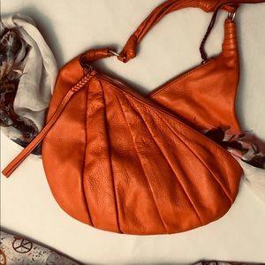Versatile Orange Soft Leather 3 separate storages